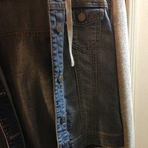 Hooded jean jacket